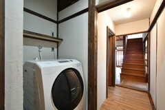 洗濯乾燥機の様子2。(2021-01-07,共用部,LAUNDRY,1F)