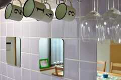 部屋ごとにカップが用意されています。(2012-05-29,共用部,KITCHEN,1F)