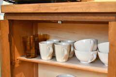 食器棚の様子。(2019-01-21,共用部,KITCHEN,1F)
