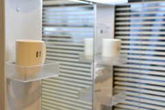 洗面台の棚は専有部ごとに使えます。・(2019-01-21,共用部,WASHSTAND,1F)