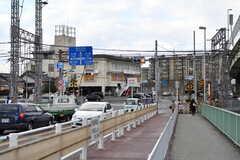 観月橋駅前の様子3。(2019-01-21,共用部,ENVIRONMENT,1F)
