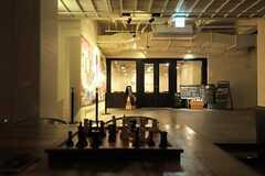 ロビーからレストラン入り口を眺めると、こんな感じ。(2012-09-10,共用部,OUTLOOK,1F)