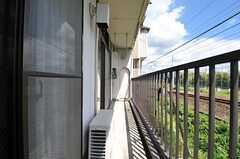ベランダの様子。(202号室)(2012-08-20,専有部,ROOM,2F)