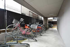 自転車置場の様子。(2017-09-12,共用部,GARAGE,1F)