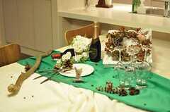 パーティー仕様のデコレーション。(2012-05-07,共用部,LIVINGROOM,2F)