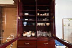 食器棚の様子。(2016-05-07,共用部,KITCHEN,1F)