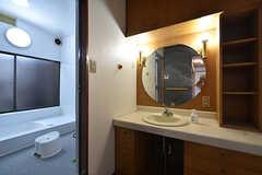 脱衣室に設置された洗面台の様子。(2016-05-07,共用部,BATH,1F)