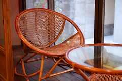 まるい籐の椅子。(2013-02-17,共用部,OTHER,1F)