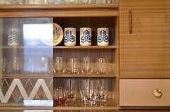 食器棚の様子。(2013-02-17,共用部,KITCHEN,1F)