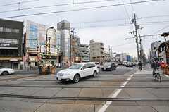 叡山電鉄叡山本線・元田中駅前の様子。(2013-02-17,共用部,ENVIRONMENT,1F)