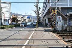 叡山電鉄叡山本線・修学院駅前の様子。(2017-02-16,共用部,ENVIRONMENT,1F)