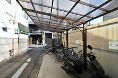 自転車置き場の様子。(2018-01-30,共用部,GARAGE,1F)