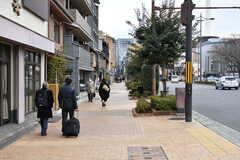 シェアハウスから京都駅へ向かう道の様子。(2018-01-30,共用部,ENVIRONMENT,1F)