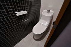 ウォシュレット付きトイレの様子。(113号室)(2018-03-14,専有部,ROOM,1F)