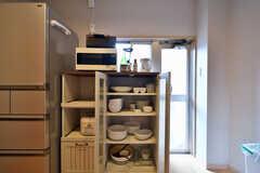 食器棚の様子。(2019-07-23,共用部,KITCHEN,2F)