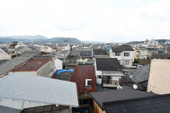 屋上から見える景色。周りには高い建物がなく、見晴らしが良いです。(2019-07-23,共用部,OTHER,4F)