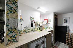 キッチンの作業スペース。(101号室)(2020-01-27,専有部,ROOM,1F)