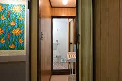 脱衣室の様子。(2016-09-11,共用部,BATH,1F)