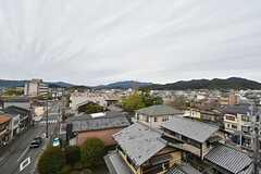 ルーフバルコニーからの景色。京都市内が一望できます。(2016-04-05,共用部,OTHER,5F)