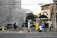 最寄りのバス停の様子。(2014-02-06,共用部,ENVIRONMENT,1F)