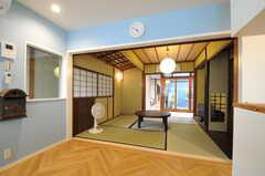 リビングの脇にある茶室の様子。(2013-08-02,共用部,LIVINGROOM,1F)