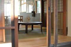 坪庭のから見た茶室の様子。(2013-08-02,共用部,OTHER,1F)