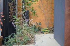 玄関前には種類豊富な植裁があります。(2014-12-10,共用部,OTHER,1F)