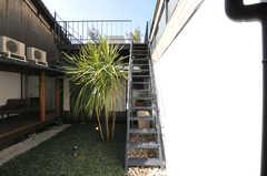 階段を上ると屋上に出られます。(2011-02-23,共用部,OTHER,1F)