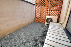 庭の様子。(101号室)(2010-12-26,専有部,ROOM,1F)