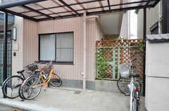 自転車置場の様子。(2014-06-11,共用部,GARAGE,3F)
