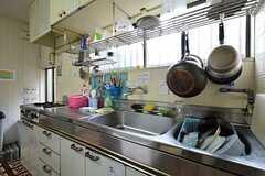 キッチンの様子。(2015-07-01,共用部,KITCHEN,1F)