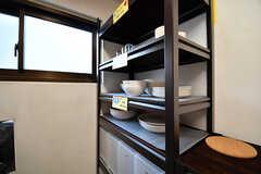 食器棚の様子。(2017-01-17,共用部,KITCHEN,2F)