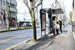 最寄りのバス停の様子。(2017-01-17,共用部,ENVIRONMENT,1F)