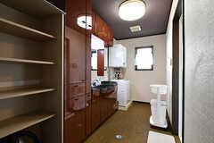 脱衣室の様子。(2016-10-12,共用部,BATH,1F)