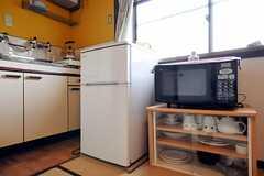 キッチン家電の様子。(101号室)(2012-03-26,専有部,ROOM,1F)