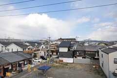 屋上からの眺めはこんな感じ。右手には大文字が見えます。(2012-03-26,共用部,OTHER,3F)
