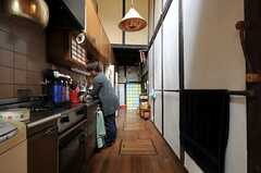キッチンの様子。(2012-03-26,共用部,OTHER,1F)