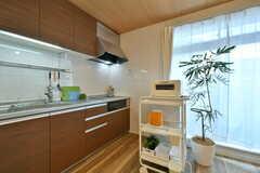 キッチンとキッチン家電の様子。バルミューダのオーブントースターが用意されています。(2017-03-07,共用部,KITCHEN,2F)