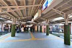 京福電鉄嵐山本線・嵐山駅の様子。(2017-03-07,共用部,ENVIRONMENT,1F)