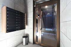 郵便受けは鍵付き。玄関はオートロックです。(2017-06-05,周辺環境,ENTRANCE,1F)