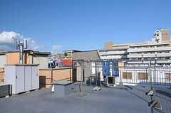 屋上の様子。物干しができます。(2013-10-12,共用部,OTHER,4F)