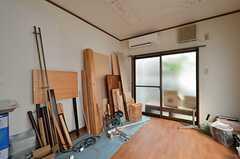 専有部の様子。(105号室)※撮影当時は資材置き場になっていました。(2014-09-10,専有部,ROOM,1F)