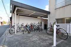 自転車置場の様子。(2014-03-03,共用部,GARAGE,1F)