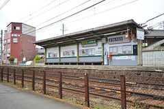 叡山電鉄・元田中駅の様子。上りと下りのホームは大通りを挟んで設置されています。(2016-04-06,共用部,ENVIRONMENT,1F)