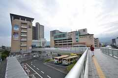 JR東海道本線・長岡京駅前の様子。(2015-07-06,共用部,ENVIRONMENT,1F)