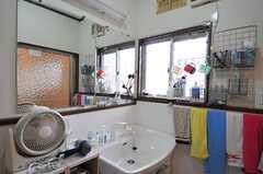 脱衣室の洗面台の様子。(2011-04-23,共用部,BATH,1F)