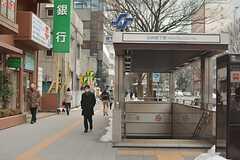 地下鉄南北線・北四番丁駅の様子。(2015-02-05,共用部,ENVIRONMENT,1F)