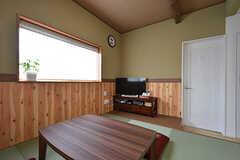 リビングの様子2。TVも見られます。冬はテーブルがこたつになります。(2016-08-18,共用部,LIVINGROOM,2F)