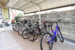 自転車置き場の様子。(2019-04-10,共用部,GARAGE,1F)