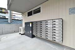 郵便受けは鍵付きで、専有部ごとに分かれています。(2018-02-28,周辺環境,ENTRANCE,1F)